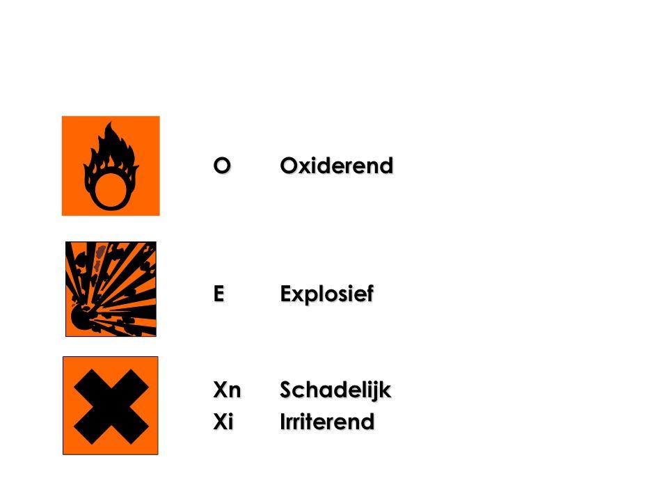 O Oxiderend E Explosief Xn Schadelijk Xi Irriterend