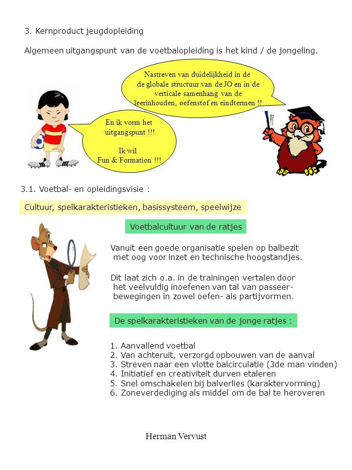 Herman Vervust 3. Kernproduct jeugdopleiding