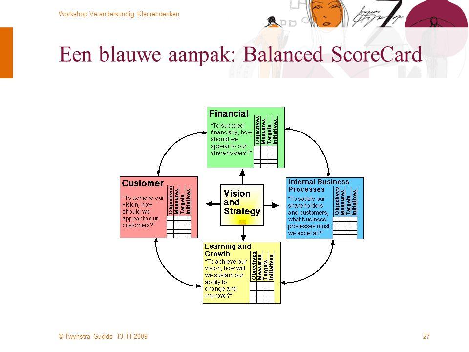 Een blauwe aanpak: Balanced ScoreCard