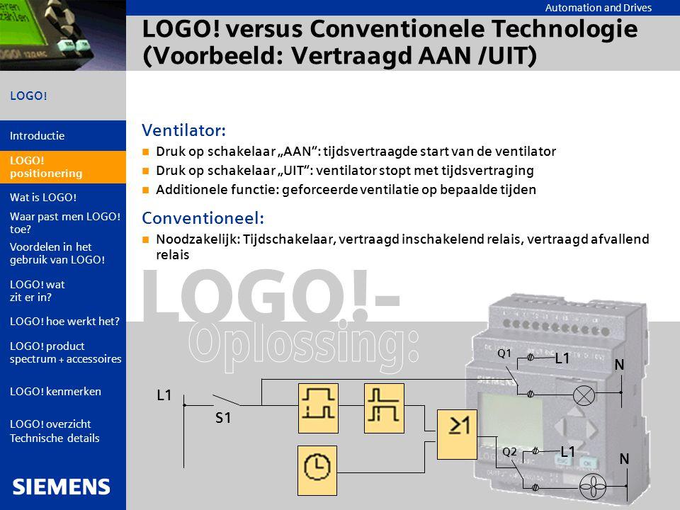 LOGO! versus Conventionele Technologie (Voorbeeld: Vertraagd AAN /UIT)