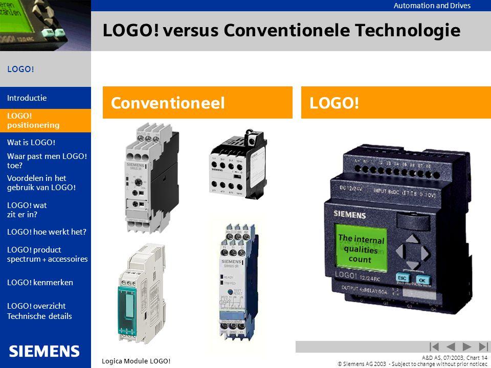 LOGO! versus Conventionele Technologie