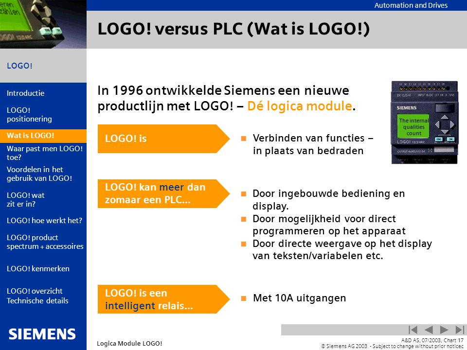 LOGO! versus PLC (Wat is LOGO!)