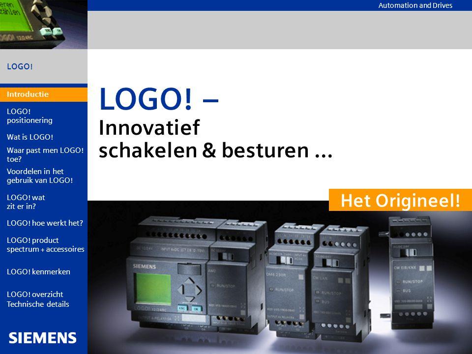 LOGO! – Innovatief schakelen & besturen ...