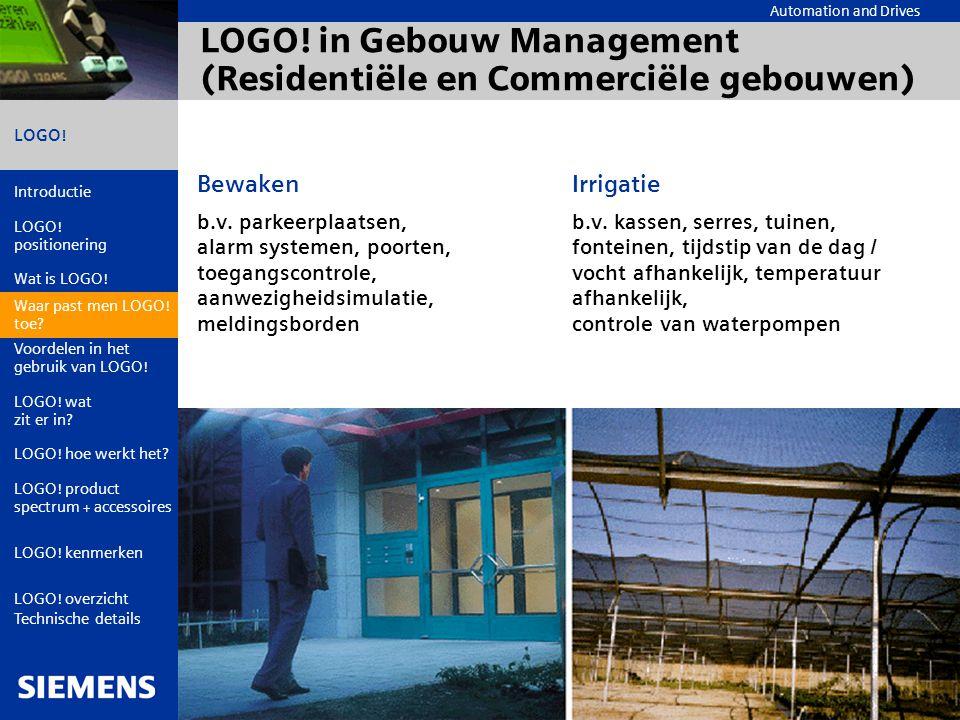 LOGO! in Gebouw Management (Residentiële en Commerciële gebouwen)