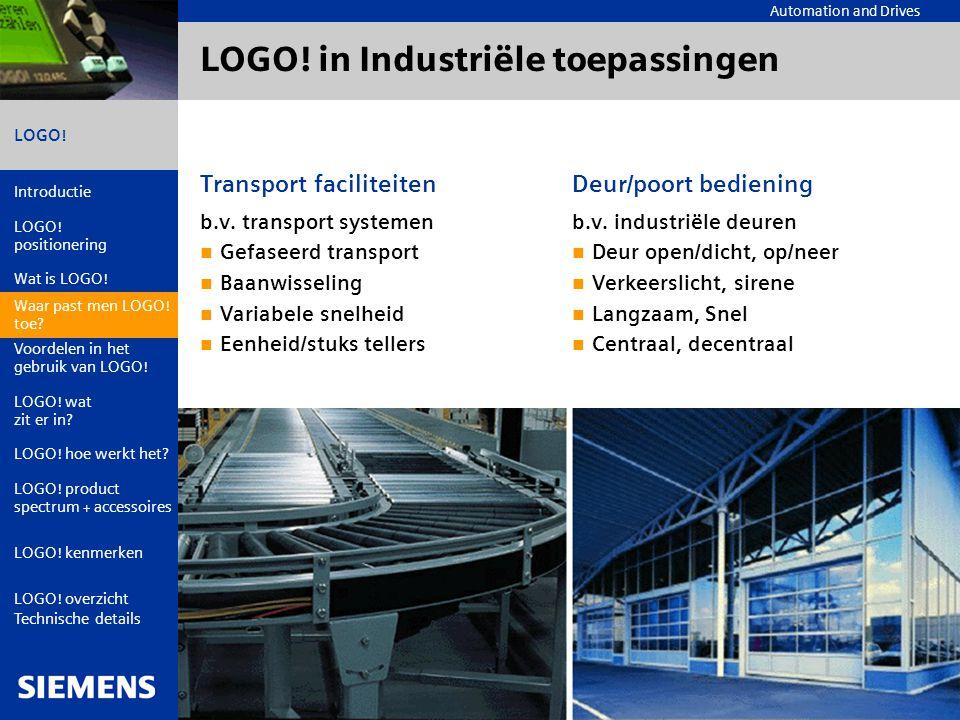 LOGO! in Industriële toepassingen