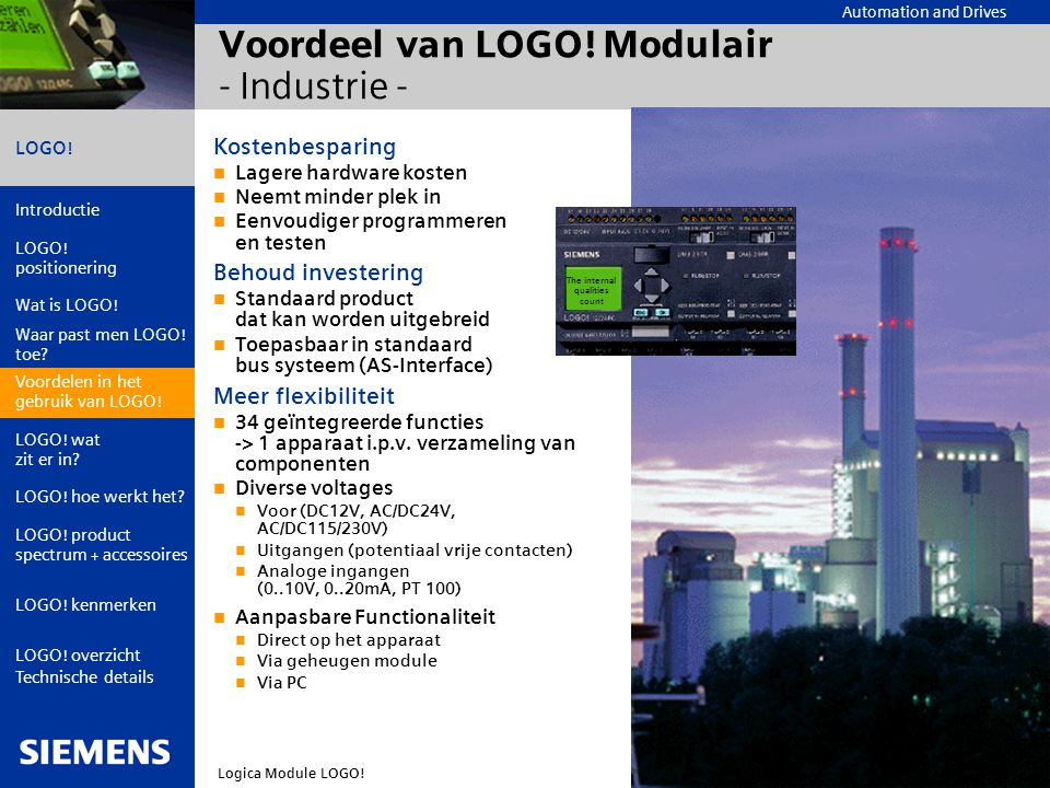 Voordeel van LOGO! Modulair - Industrie -