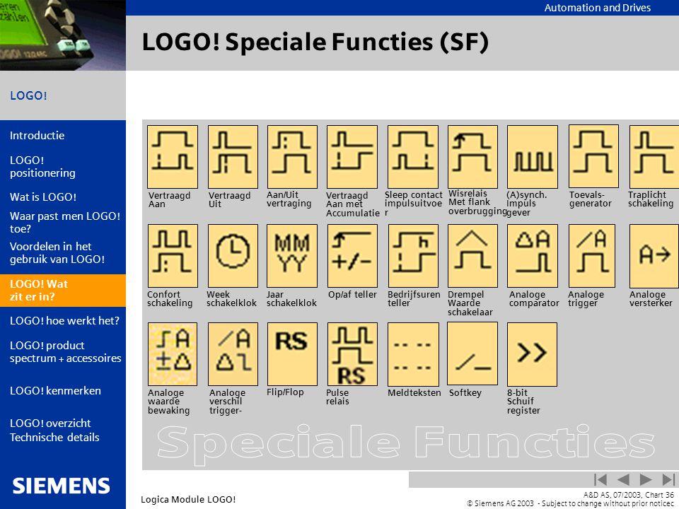 LOGO! Speciale Functies (SF)