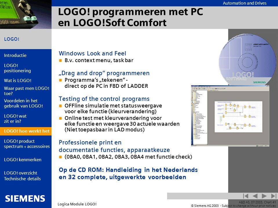 LOGO! programmeren met PC en LOGO!Soft Comfort