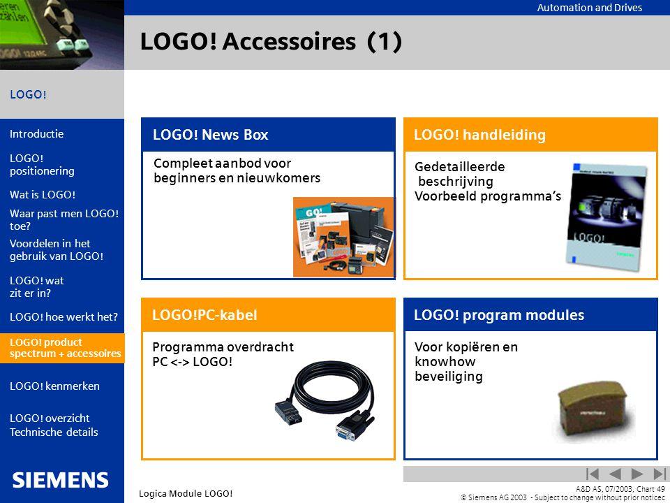 LOGO! Accessoires (1) LOGO! News Box LOGO! handleiding LOGO!PC-kabel