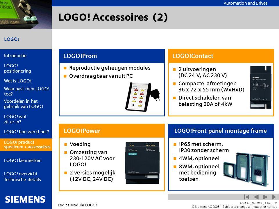 LOGO! Accessoires (2) LOGO!Prom LOGO!Contact LOGO!Power