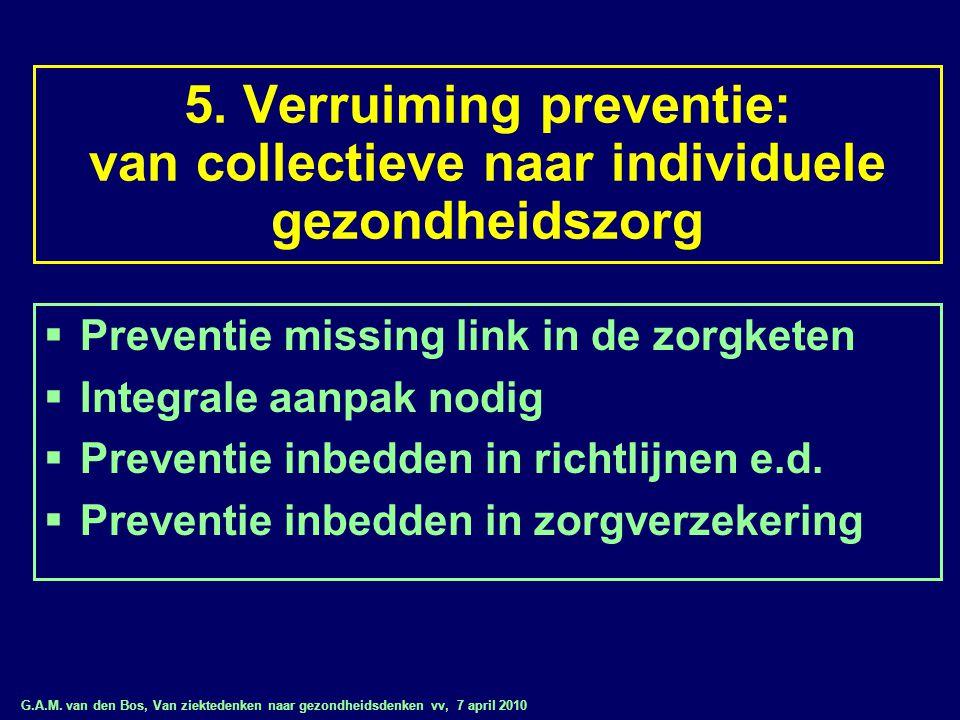 5. Verruiming preventie: van collectieve naar individuele gezondheidszorg