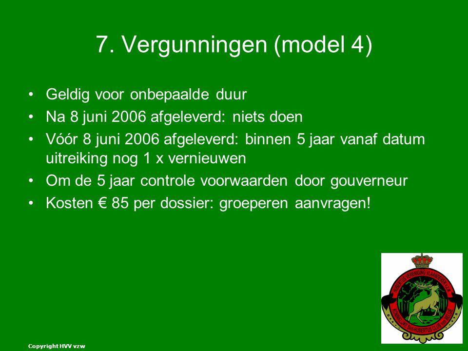 7. Vergunningen (model 4) Geldig voor onbepaalde duur