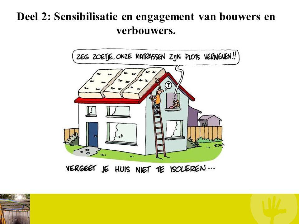 Deel 2: Sensibilisatie en engagement van bouwers en verbouwers.