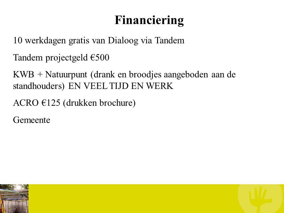 Financiering 10 werkdagen gratis van Dialoog via Tandem