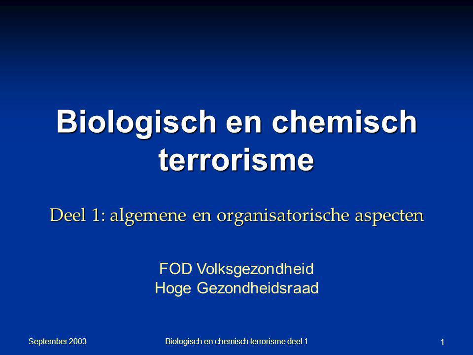 Biologisch en chemisch terrorisme