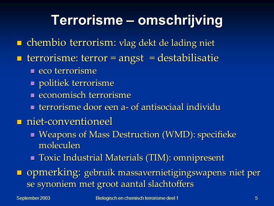 Terrorisme – omschrijving