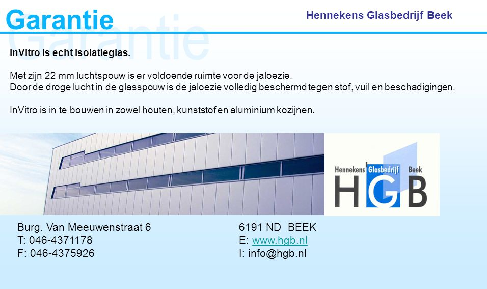 Garantie Garantie Hennekens Glasbedrijf Beek
