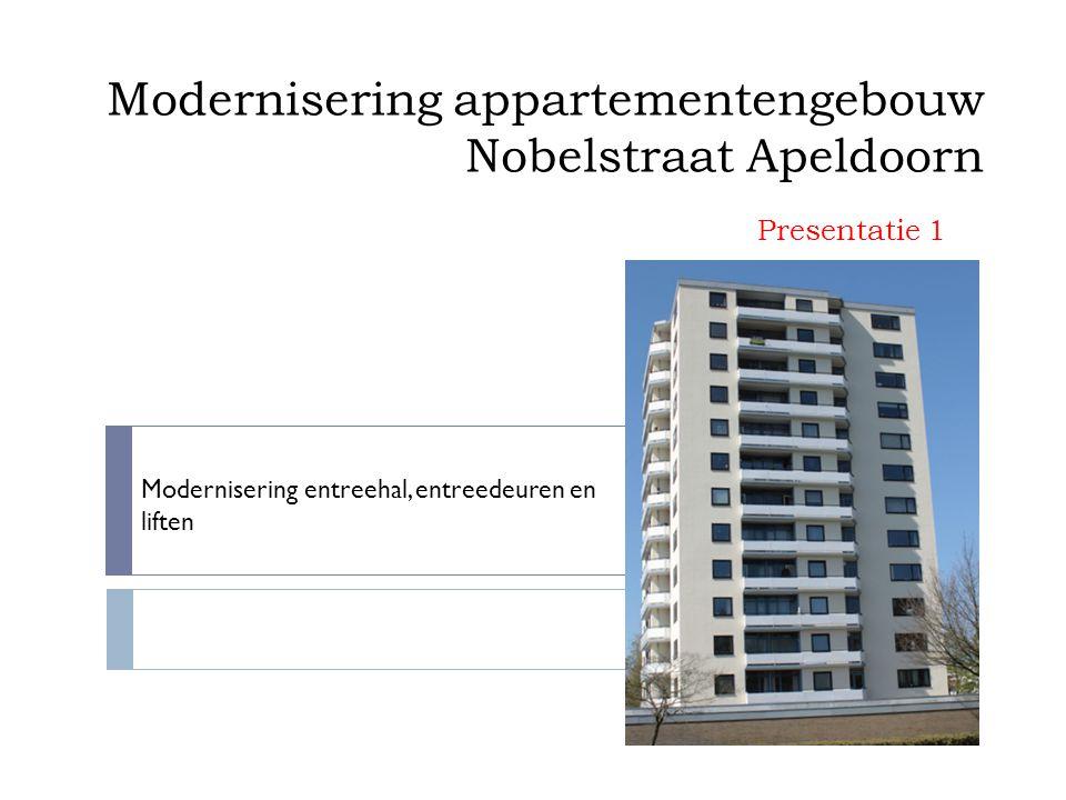 Modernisering appartementengebouw Nobelstraat Apeldoorn