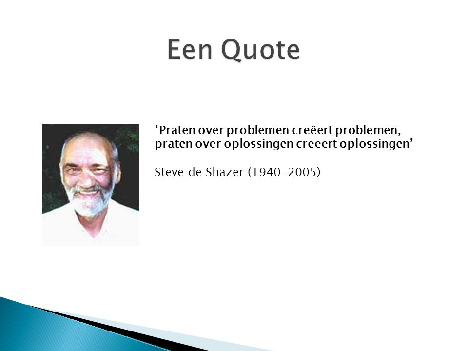Een Quote 'Praten over problemen creëert problemen,