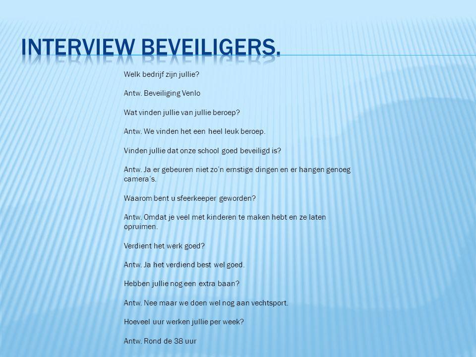 interview beveiligers.
