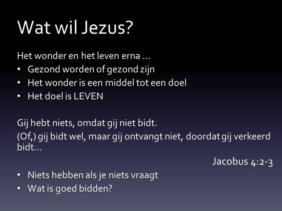 Wat wil Jezus Jacobus 4:2-3 Het wonder en het leven erna …