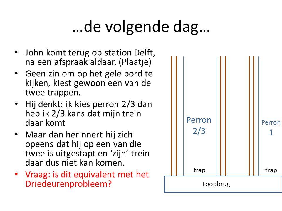 …de volgende dag… John komt terug op station Delft, na een afspraak aldaar. (Plaatje)