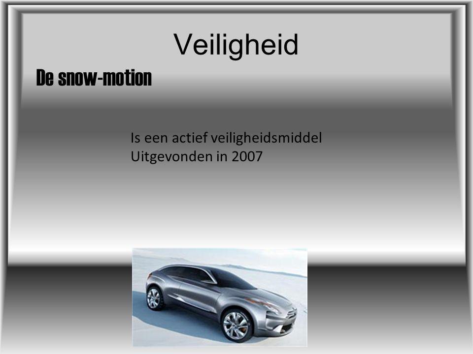 Veiligheid De snow-motion