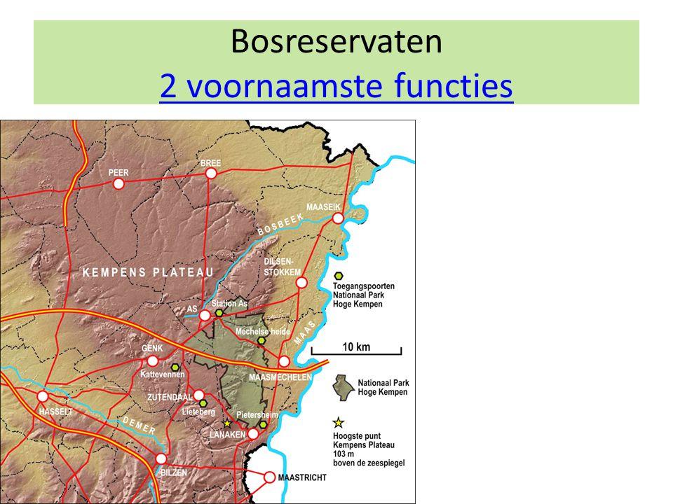 Bosreservaten 2 voornaamste functies