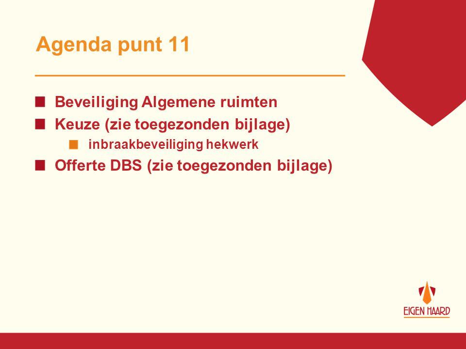 Agenda punt 11 Beveiliging Algemene ruimten