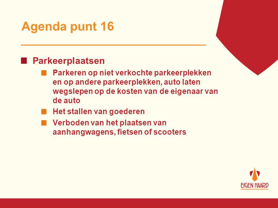 Agenda punt 16 Parkeerplaatsen