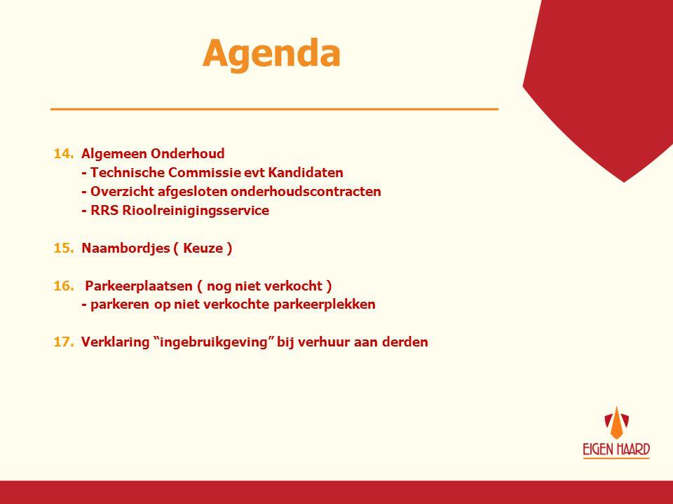 Agenda 14. Algemeen Onderhoud - Technische Commissie evt Kandidaten