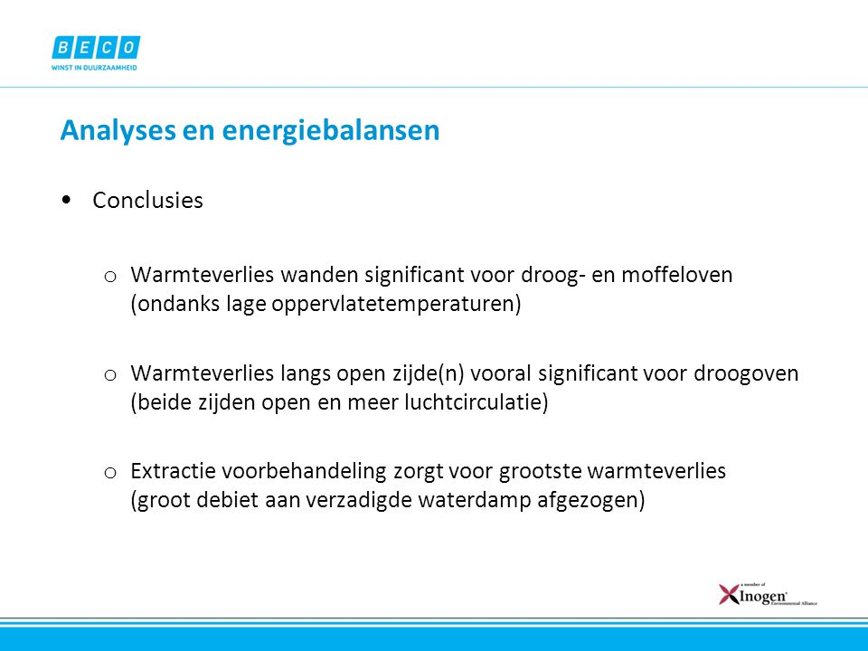 Analyses en energiebalansen