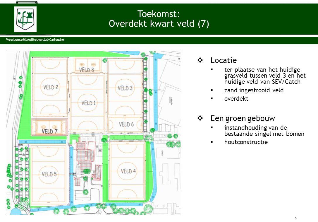 Toekomst: Overdekt kwart veld (7) Locatie Een groen gebouw