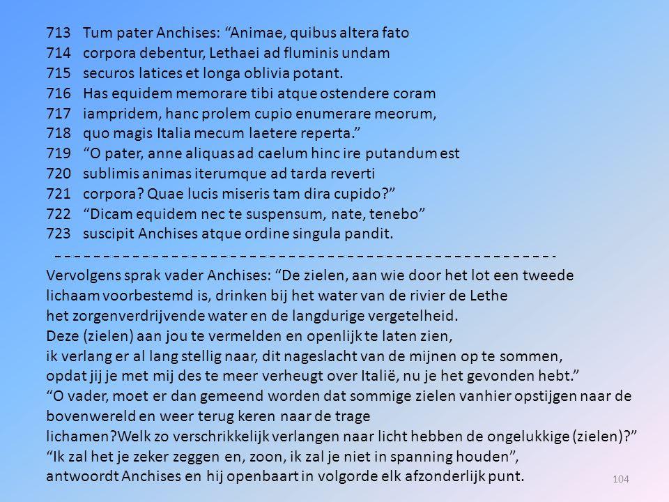 713 Tum pater Anchises: Animae, quibus altera fato