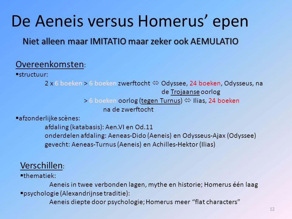 De Aeneis versus Homerus' epen