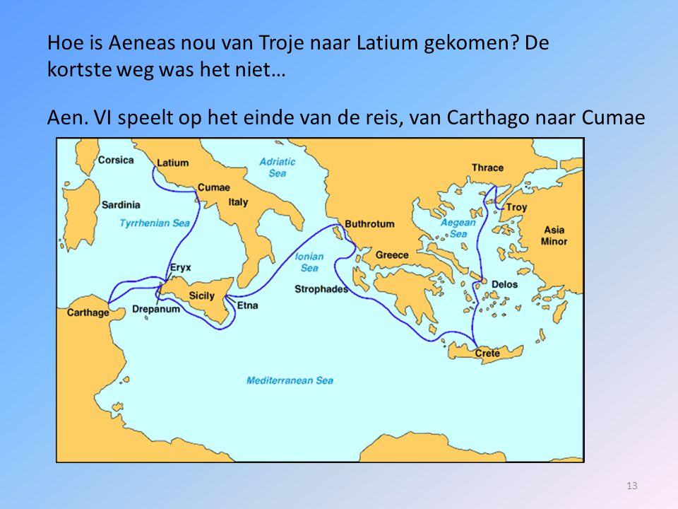 Hoe is Aeneas nou van Troje naar Latium gekomen