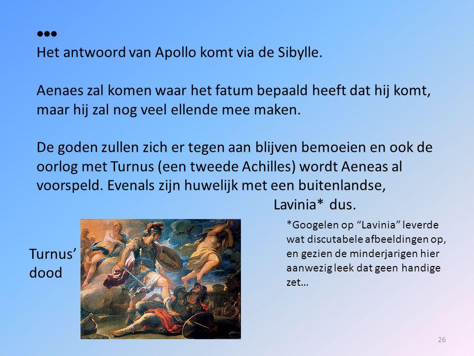 Het antwoord van Apollo komt via de Sibylle.
