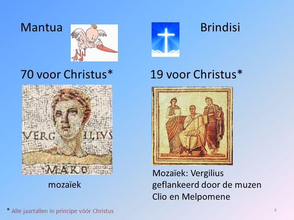 Mantua 70 voor Christus* Brindisi 19 voor Christus*
