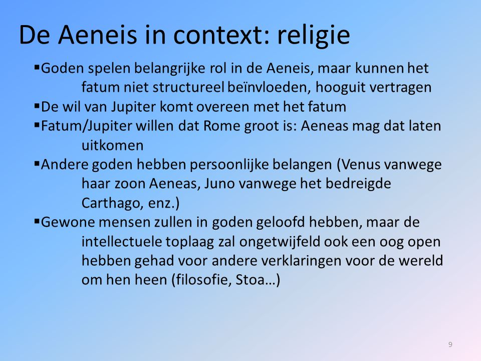 De Aeneis in context: religie
