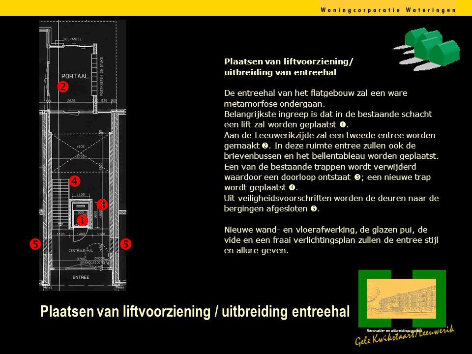 Plaatsen van liftvoorziening / uitbreiding entreehal