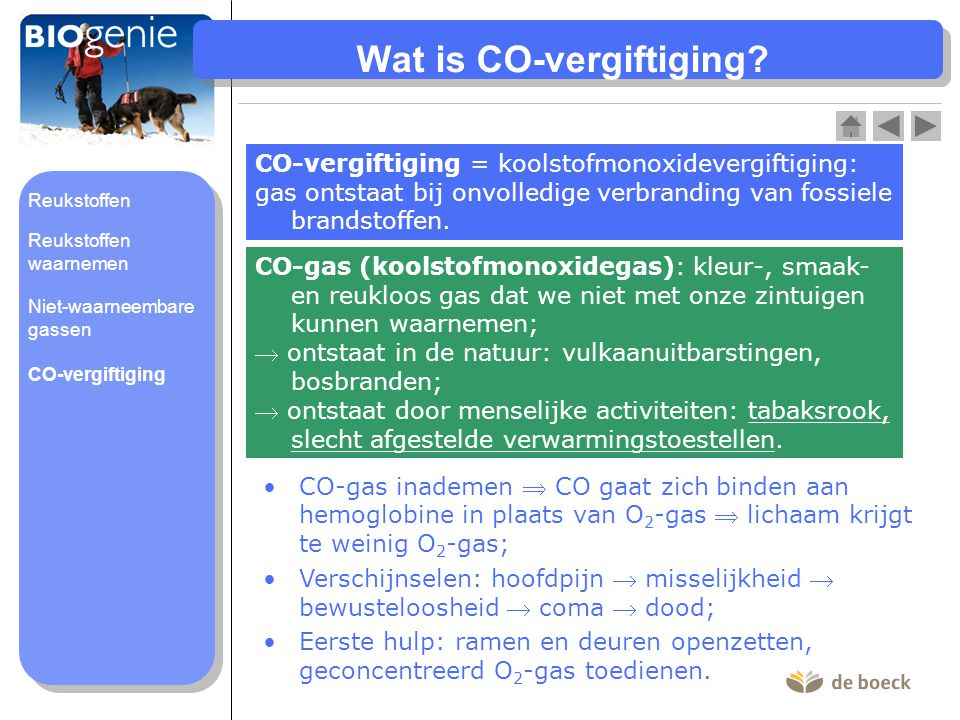 Wat is CO-vergiftiging