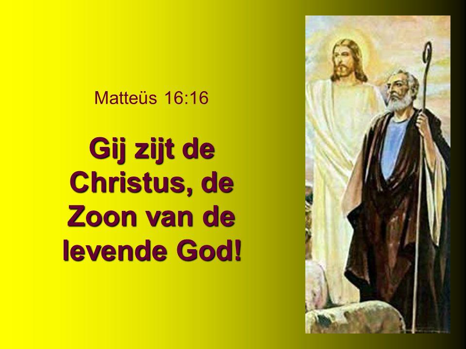 Matteüs 16:16 Gij zijt de Christus, de Zoon van de levende God!