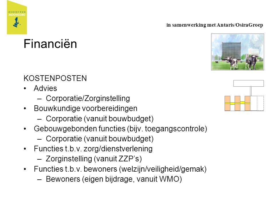 Financiën KOSTENPOSTEN Advies Corporatie/Zorginstelling