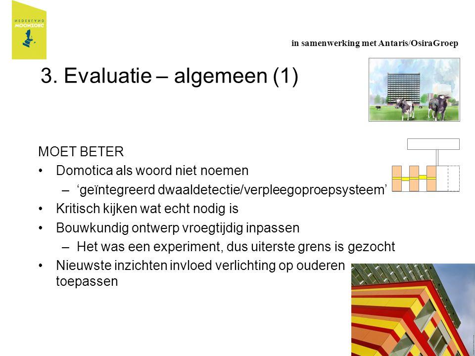 3. Evaluatie – algemeen (1)