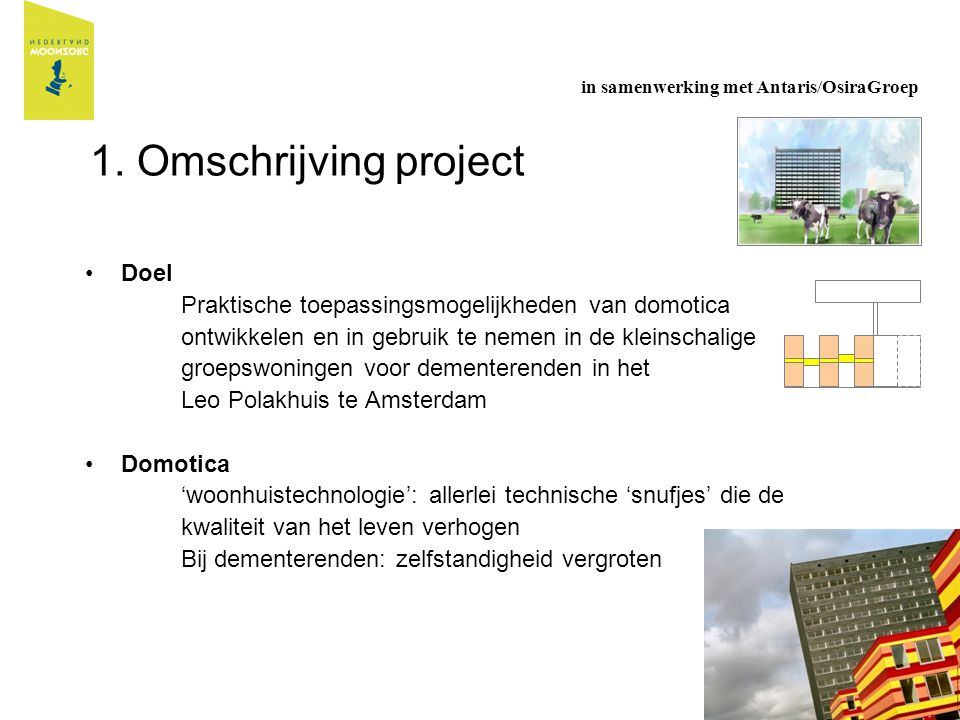 1. Omschrijving project Doel