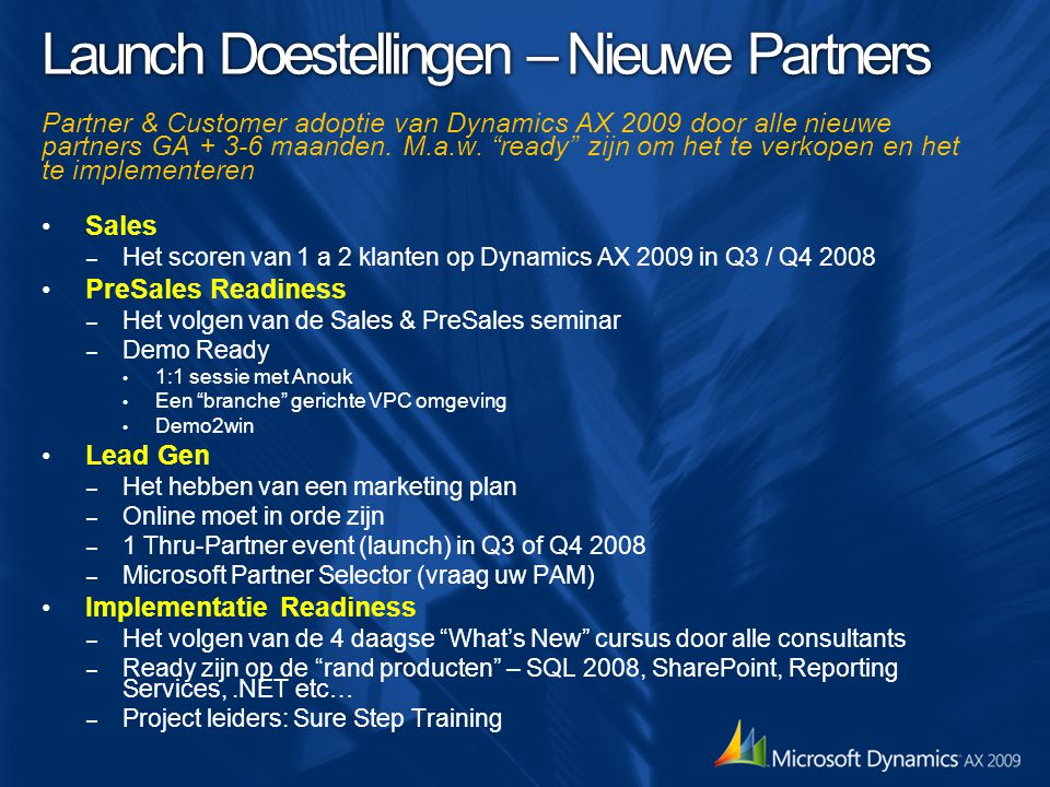 Launch Doestellingen – Nieuwe Partners