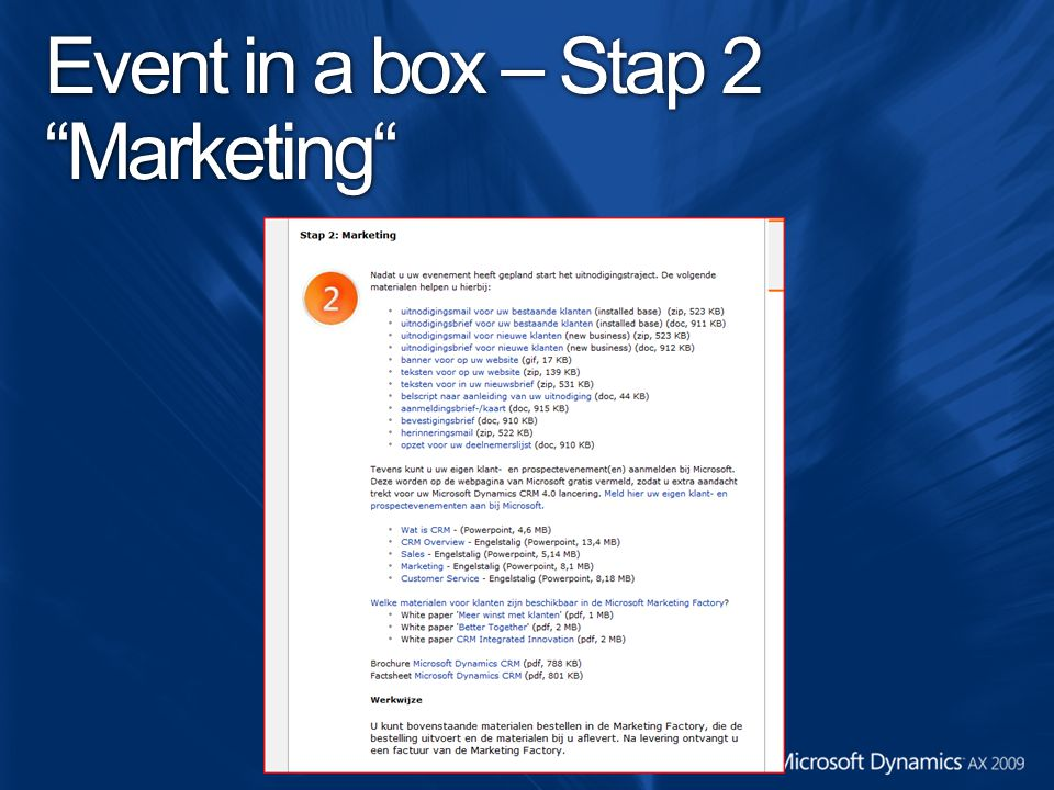 Event in a box – Stap 2 Marketing