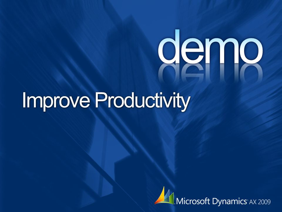 demo Improve Productivity