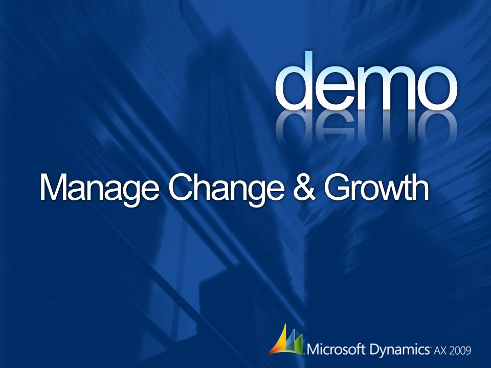 demo Manage Change & Growth