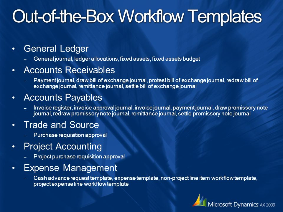 Out-of-the-Box Workflow Templates